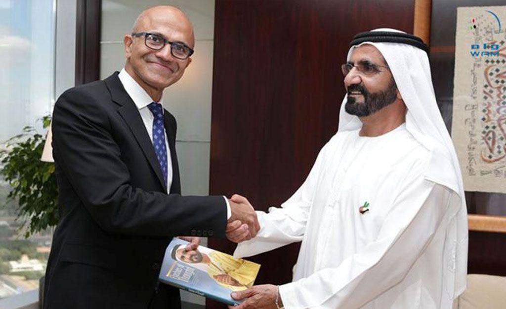 MOHAMMED BIN RASHID RECEIVES CEO OF MICROSOFT